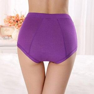 Бесплатная доставка, менструальный период, бамбуковое волокно, женское нижнее белье, с длинной талией, с защитой от протечек, с карманами, для здоровья, L-XXXL, R1