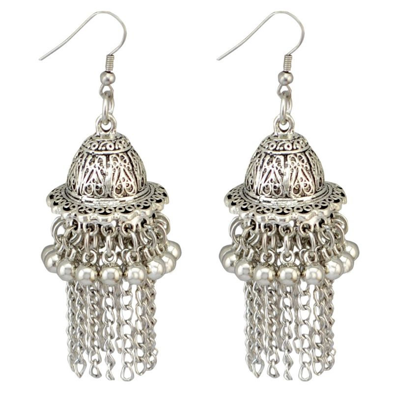Jewelry & Accessories Jingle Bell Jhumka Indian Unique Ethnic Bollywood Dangle Earrings Jewelry Accessory Vivid And Great In Style