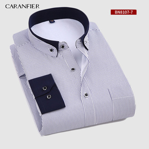 Image 3 - CARANFIER New Hot Selling Winter Casual Shirt Warm Long Sleeve Plaid Shirts Thick Velvet Mens Brand Dress Shirts Male Slim Fit