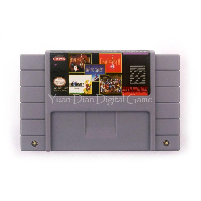 Nintendo sfc/snes cartucho de consola de videojuegos tarjeta 5en1 ms001 ee. uu.