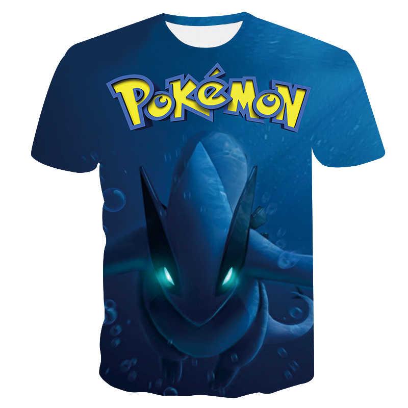 Покемон Повседневное 3D Pokemon футболки Harajuku для Для мужчин Костюмы 2019 короткий рукав Kpop футболки топы корректирующие в стиле «хип-хоп» в виде рыбьей чешуи Большие размеры