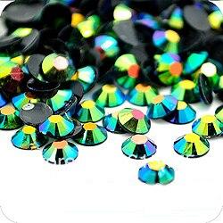 3mm Jelly Emerald AB Color SS10 crystal Resin rhinestones flatback,Nail Art Rhinestones,100,000pcs/bag