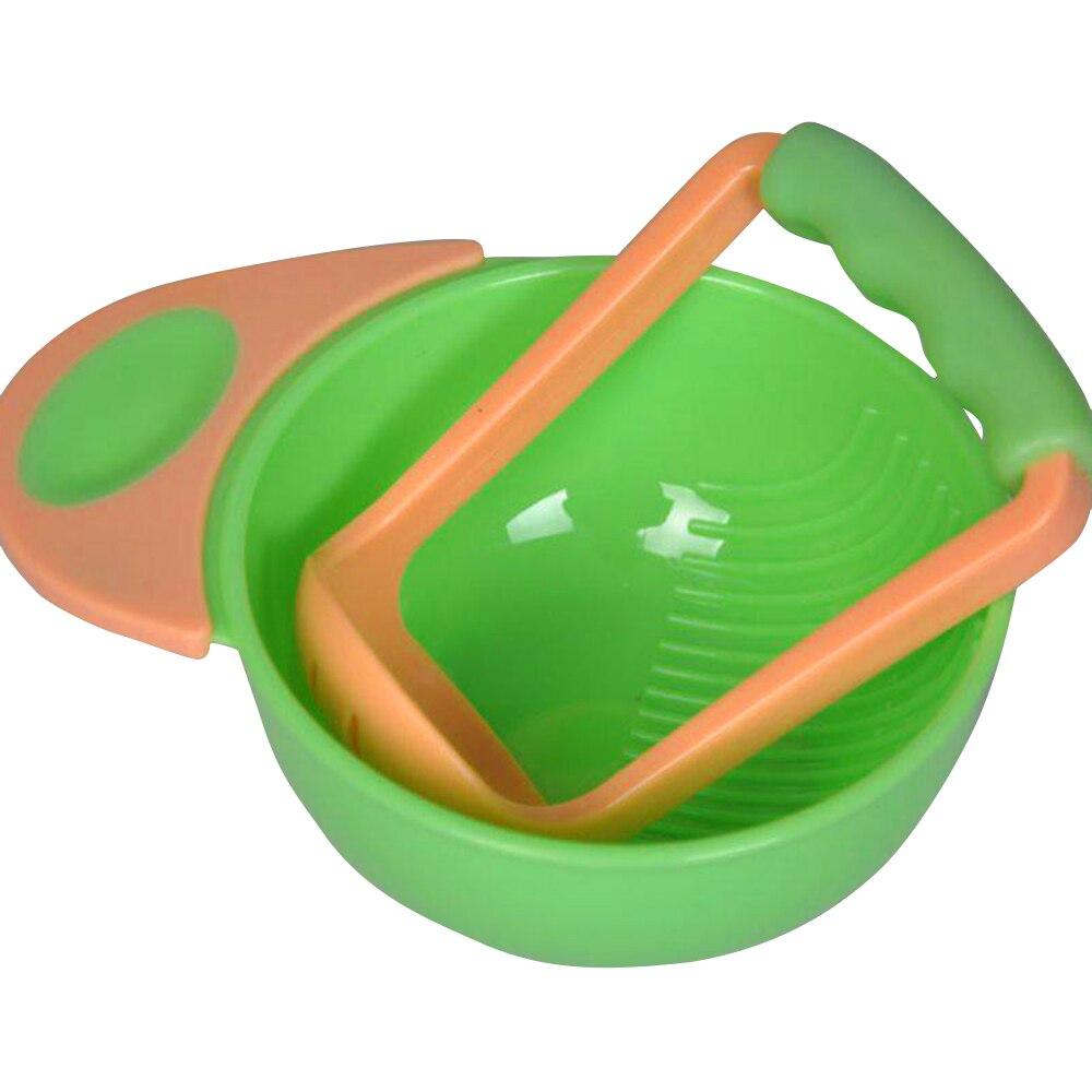 Безопасная шлифовальная пищевая добавка синие+ зеленые овощи дети учатся блюда для еды Прямая - Цвет: yellow and Green