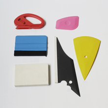 6 in1 Car Wrap Set Felt Vinyl Squeegee Window Tinting for Installation Tint Wrapping Tools Kit MO-810
