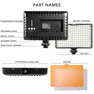 Image 5 - Capsaver TL 160S スタジオライト LED ビデオライト 160 led カメラライトハンドヘルド写真ランプパネル用 youtube 撮影