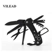 VILEAD 12 in 1 Multi-tools EDC Outdoor Survival Stainless Steel Travel Folding Durable Portable Compact Camping Knives Bushcraft стоимость