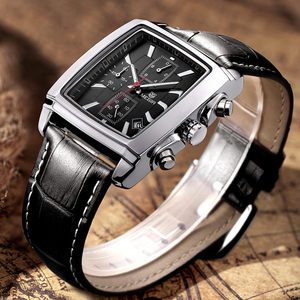 Image 4 - MEGIR Top Marke Luxus Männer der Mode Rechteck Uhr Einzigartige Gravierte Zifferblatt Military Sport Uhren Relogio Masculino Esportivo