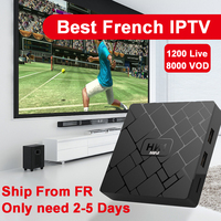Best French IPTV Box HK1 mini Android TV Box with 1200+ 1 Year IPTV Europe France Arabic Africa Morocco football Smart IP TV Box