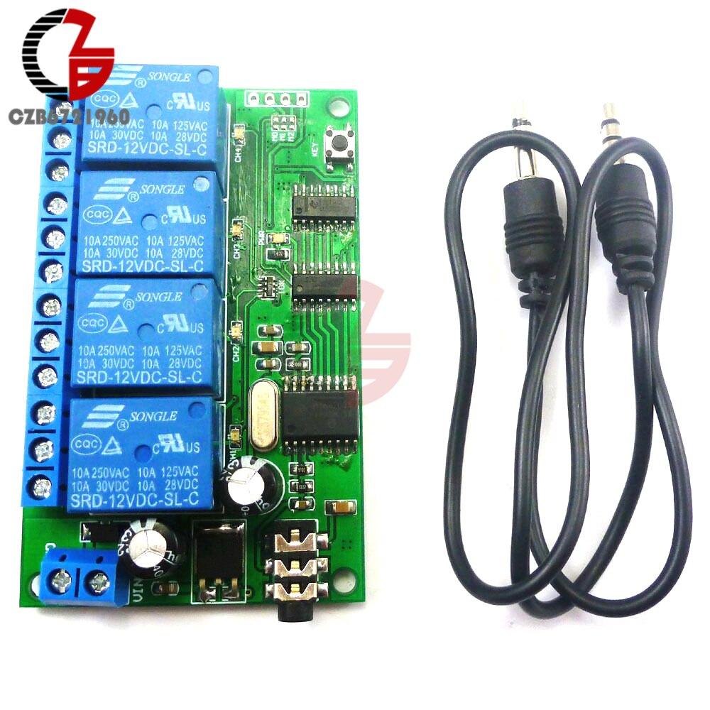 Ad22b04 4 Ch Dtmf Mt8870 Audio Decoder Smart Home Relay Controller Using Mt8870de Original Phone Servo H6 45