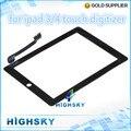 Для ipad3 ipad4 черный и белый 1 шт. бесплатная доставка жк стеклянный экран с flex кабель сенсорный дигитайзер для ipad 3 ipad 4