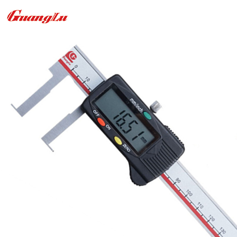 GUANGLU Inside groove 22-150mm Digital Caliper Stainless Steel Digital Vernier Caliper Electronic Gauge Tools Micrometer Ruler guanglu digital internal groove caliper 8 150mm 0 01mm stainless steel micrometer paquimetro measuring tools gauge ferramentas