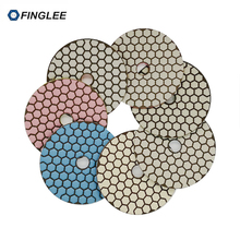 10pcs 4inch/100mm Angle Grinder Diamond Flexible Dry Polishing Pad Granite Concrete Marble Polish Tools For Stone