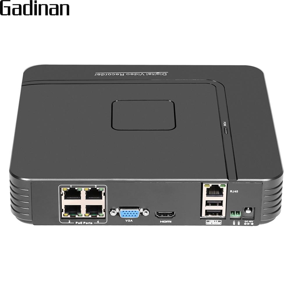 GADINAN 48V H 264 4CH 1080P 2 0MP POE NVR DVR CCTV System Kit P2P Network