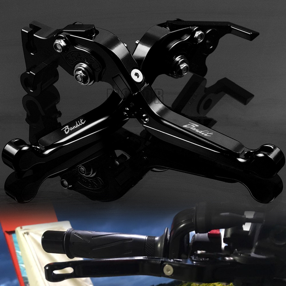 CNC Aluminum Motorcycle Fold Brake Clutch Levers For Suzuki Bandit GSF1200 1996 2000 1997 1998 1999