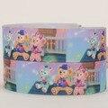 НОВЫЕ продажи 50 ярдов симпатичные Даффи медведь мультфильм ленты печатных grosgrain ленты бесплатная доставка