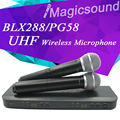 New BLX288/PG58 BLX BLX288 BLX88 PG 58A UHF Wireless Microphone Karaoke System With PG58 Dual Handheld Transmitter UT4 TPYE Mic