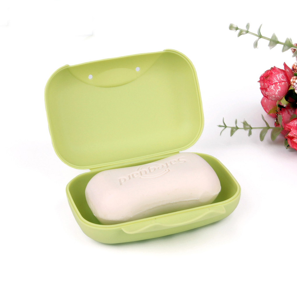 Protable Travel Soap Dish Box Soap Holder Container Shower Bathroom Soap Dishes
