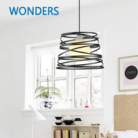 Loft Pendant Lights Industrial Wrought Spring Shape Iron Pendant Lamps Bar Cafe Restaurant Suspension Luminaire Home