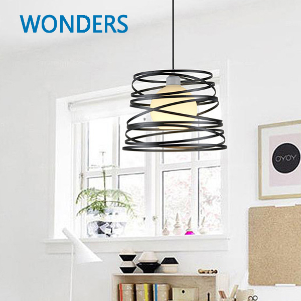Loft Pendant Lights Industrial Wrought Spring shape Iron Pendant Lamps Bar Cafe Restaurant suspension luminaire Home Lighting restaurant bar cafe pendant lights retro hone lighting lamp industrial wind black cage loft iron lanterns pendant lamps za10