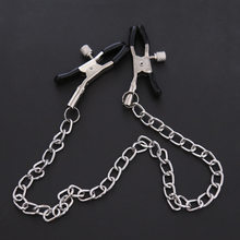 Metal Chain Nipple Clamps Fetish Adult Couple Slaves Games Flirting Teasing Breast Hot Sexy Jewelry Exotic Accessories BDSM Toys(China)
