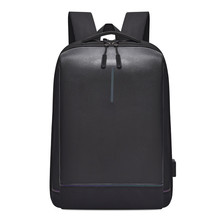 Usb Rechargeable Business Computer Bag Backpack Leisure Outdoor Travel Students Bookbag  Black Small