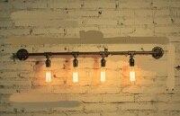 Parede de água tubulações de água conjunto fonte de luz produzida 75 industrial lâmpada retro Café Sótão Americano luz suporte de ferro luz da parede SG29|Luminárias de parede|Luzes e Iluminação -