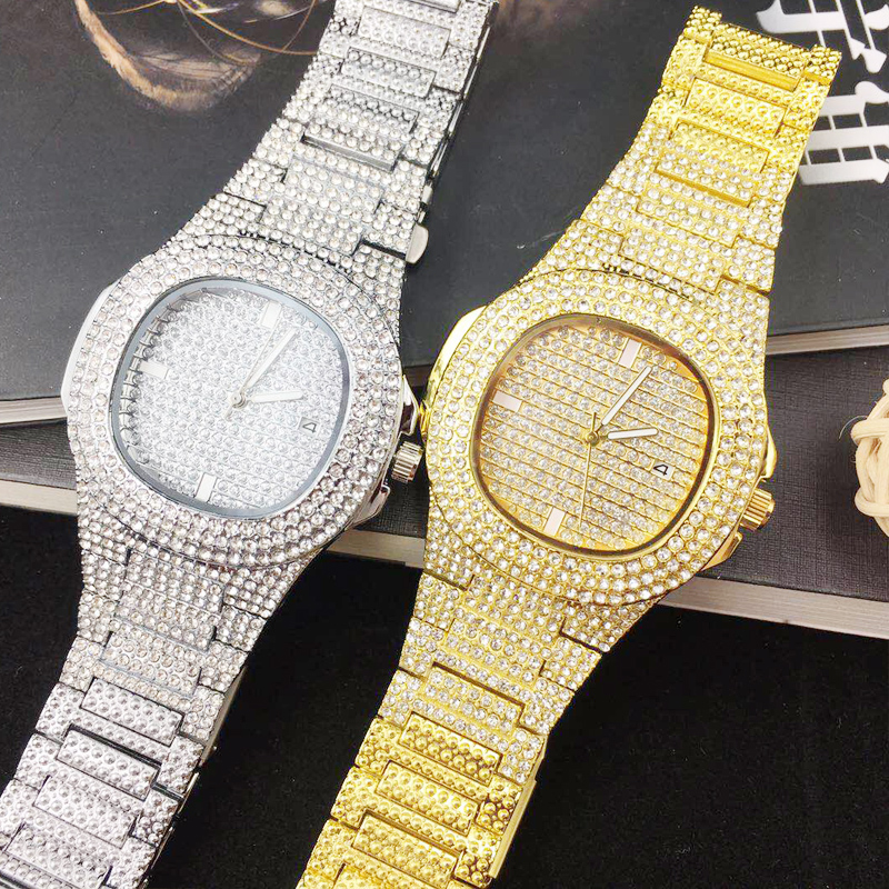 ICE Out Bling Diamond Watch For Men Women Hip Hop iced out watch Men Quartz Watches
