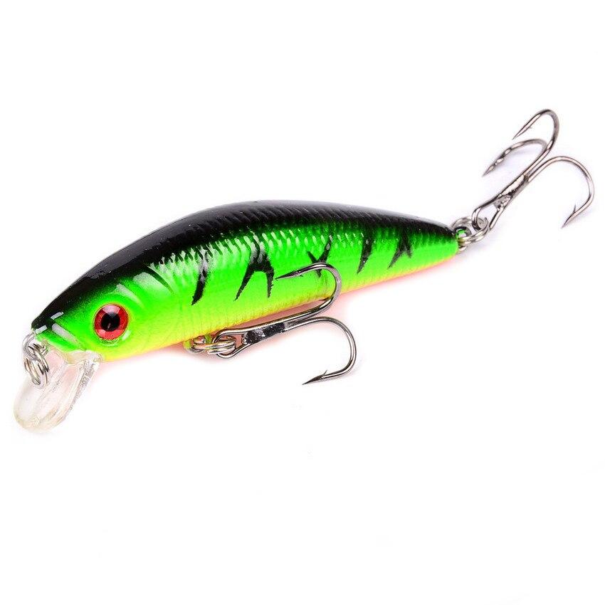 Aorace Minnow Fishing Lure 70mm 8g 3d Eyes Crankbait Wobblers Artificial Plastic Hard Bait Peche Fishing Tackle