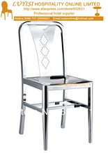 Stainless steel chair,fully assembled,gloss finish,quick shipment