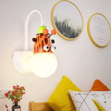 Cartoon Kid Wall Lamp Child Bedroom Lighting Novelty Animal Cartoon Giraffe / Monkey / Zebra LED Children Bedside Wall Light(China)