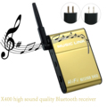 X400 Wireless Bluetooth APTX Lossless Audio Receiver Adapter for Phone Headphones Tablet PC iPod Golden