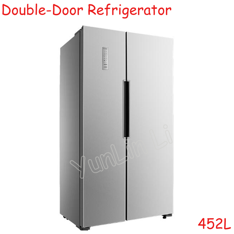 цена на 452L Double Door Refrigerator Household Ultrathin Air-Cooling & Frostless Cold Storage & Freezing Refrigerator BCD-452WK