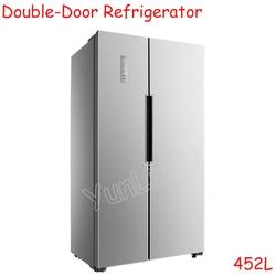 Luksusowe lodówki podwójne drzwi lodówki domowe 452L ultracienki chłodzenie powietrzem zamrażanie lodówka BCD 452WK|Lodówki|AGD -
