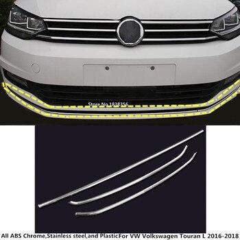 Per VW Volkswagen Touran L 2016 2017 2018 2019 auto Paraurti di protezione in acciaio inox assetto anteriore testa inferiore cappuccio pedale stampaggio