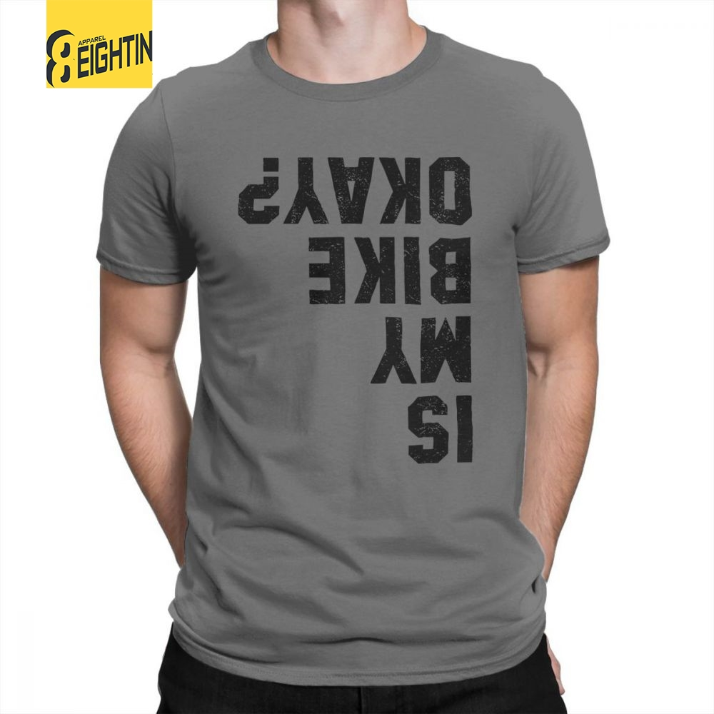Funny Cycling Bicycle Motorcycle Biker Man's   T     Shirts   Funny Purified Cotton Short Sleeve Tees Round Neck   T  -  Shirt   Clothes