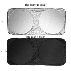 Image 3 - UV להגן על רכב שמשה קדמית כיסוי 150X70cm קדמי אחורי חלון סרט שמשה קדמית Visor כיסוי רכב שמשיה רכב סטיילינג באיכות גבוהה