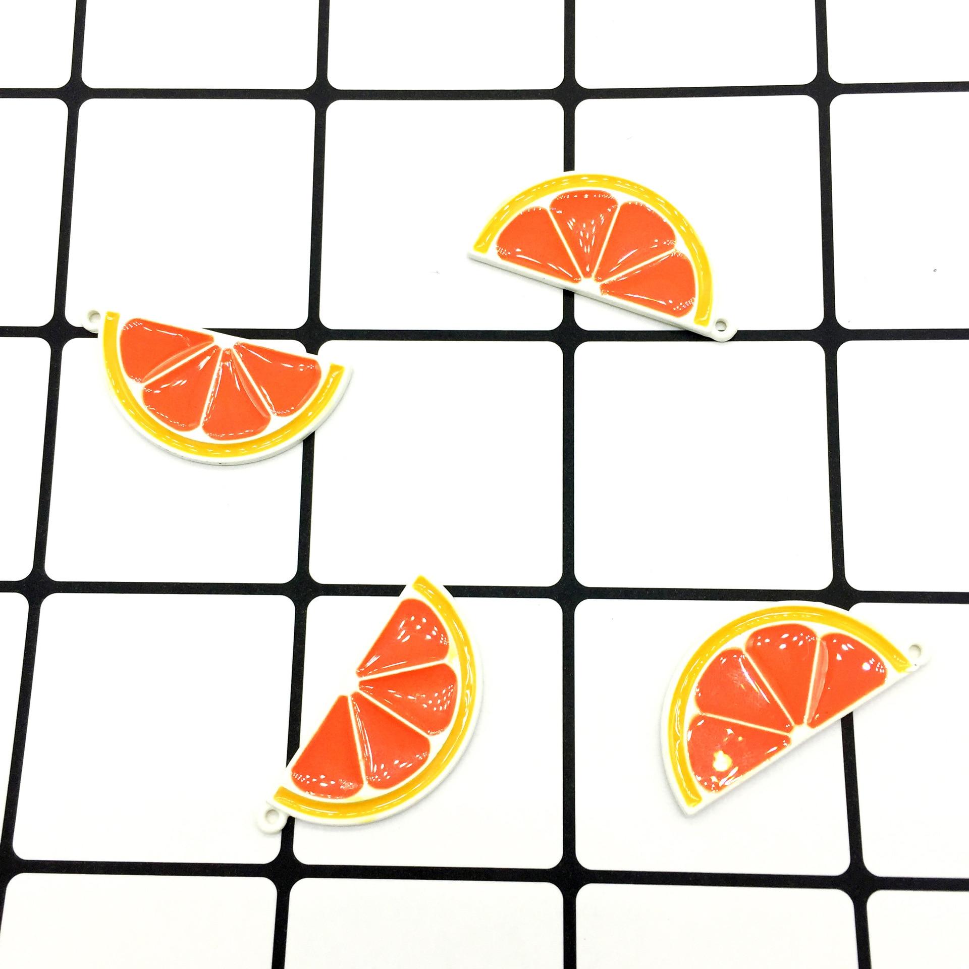 10 PC New Fashion Fruit Orange Metal Enamel Charms Fit DIY Bracelet Earring Necklace Jewelry Accessory DIY Craft