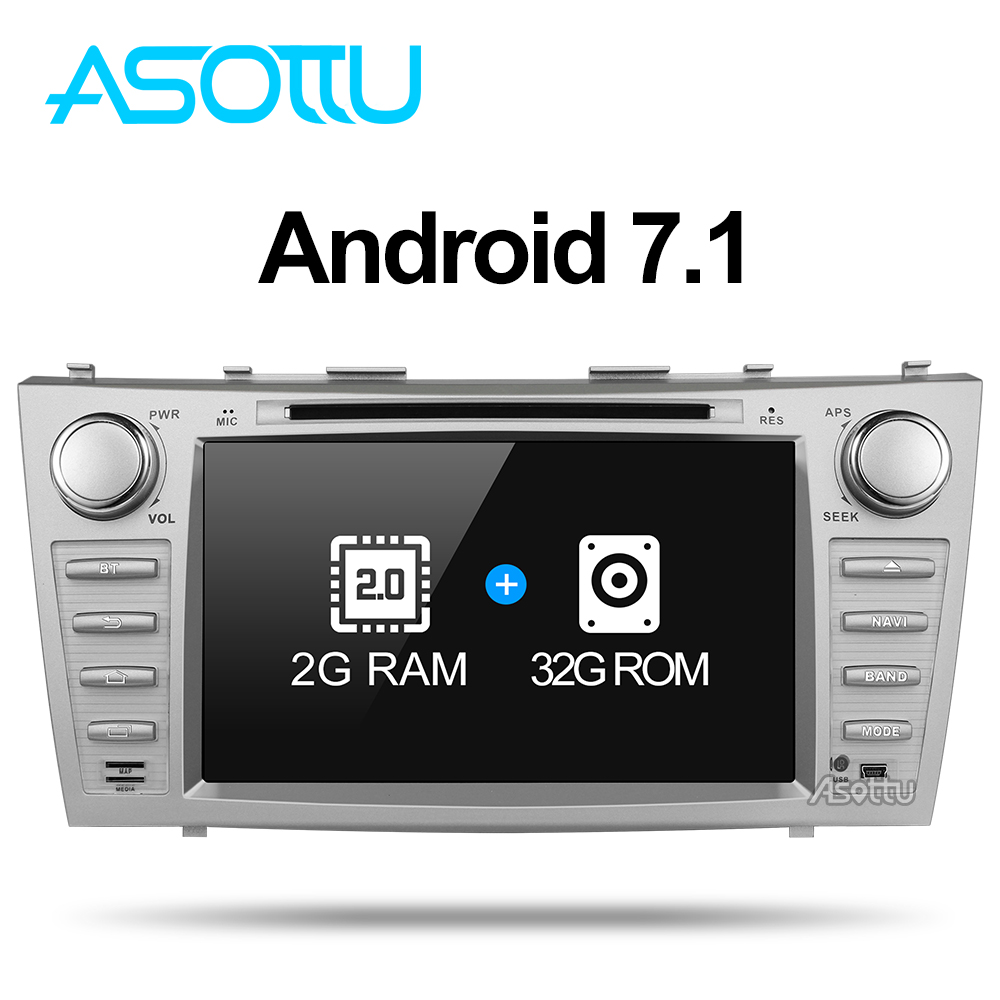 Asotto ZKMR8060 2G+32G android 7.1 car dvd navigation car dvd  for Toyota camry 2008 2009 2010 2011 car stereo multimedia player-in Car Multimedia Player from Automobiles & Motorcycles    2