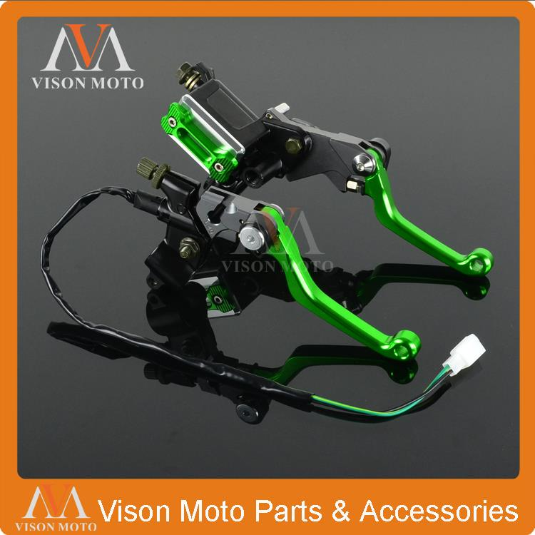 CNC Brake Lever Master Cylinder + Cable Clutch Perch For Kawasaki KX125 KX250 KX250F KX450F KX65 KX85 KX500 Motocross Dirt Bike cnc pivot brake clutch lever for kawasaki kx65 kx85 kx125 kx250 kx250f new