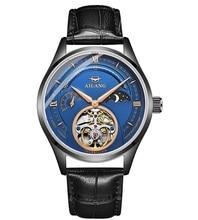 купить 2019 men's new trend simple fashion automatic mechanical watch leather watch waterproof watch по цене 4884.84 рублей