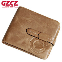 ESIPOSS Brand Cowhide Leather Men Wallets Luxury Designer Vintage Mens Hasp Wallets Purse With Zipper Coin