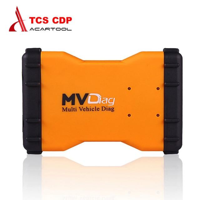 2017 Новый VCI MVDiag С USB Универсальный для АВТОМОБИЛЯ ГРУЗОВИК Диагностический TCS CDP Нескольких Транспортных Средств Диагностики МВД бесплатная доставка