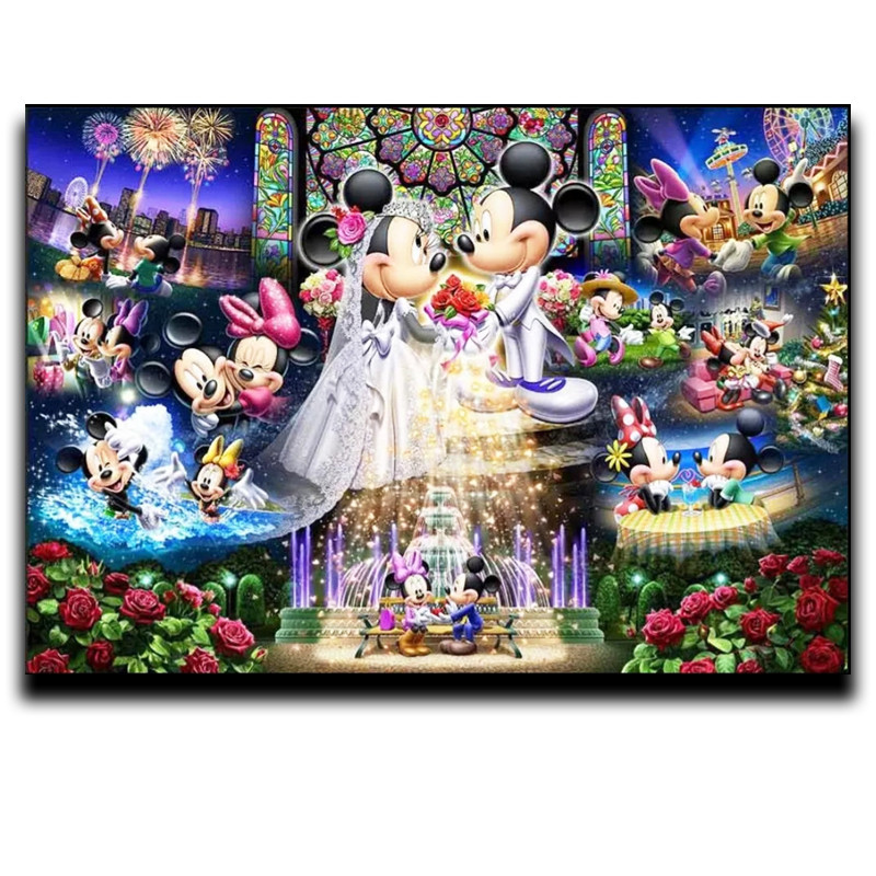 Painting Diamond Fancy Drill Round Square Mosaic Diamond Rhinestones Full of Embroidery House Decoration Mickey Mouse in Diamond Painting Cross Stitch from Home Garden