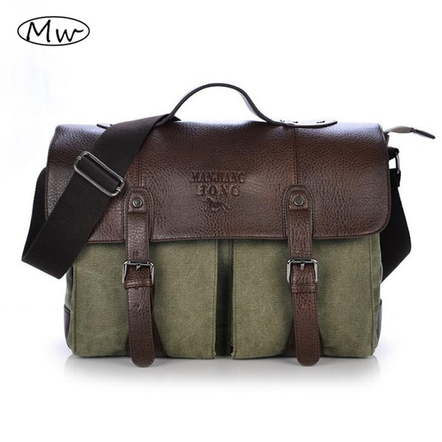 2016 Retro Men Briefcase Business Shoulder Bag Canvas Messenger Bags Man Handbag Tote Bag Casual Travel Bag Sac Hommes