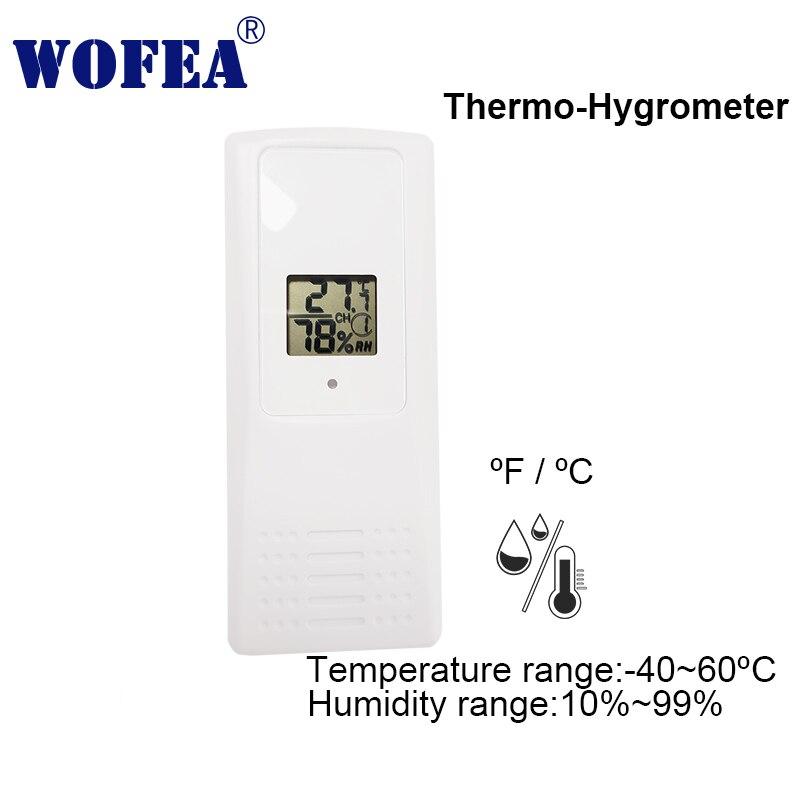 Wofea capteur d'humidité de température thermo-hygromètre sans fil intérieur/extérieur à 8 canaux devrait fonctionner avec wifi V10