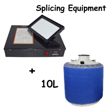 110V/220V Micro-Liquid Nitrogen Cryopreservation Machine Qu Dcreen Splicing Equipment + 10L Liquid Nitrogen Tank yds 50b small capacity cryogenic liquid nitrogen tank