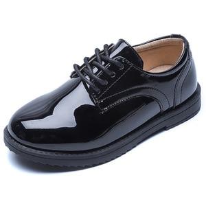 Image 5 - Мокасины детские кожаные, школьные туфли для мальчиков, обувь для выступлений, свадьбы, вечеринки, Повседневные Легкие черные, на плоской подошве, 2020
