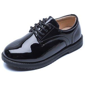 Image 5 - 2020 New Boys School Leather Shoes For Kids Student Performance Wedding Party Shoes Black Casual Flats Light Children Moccasins