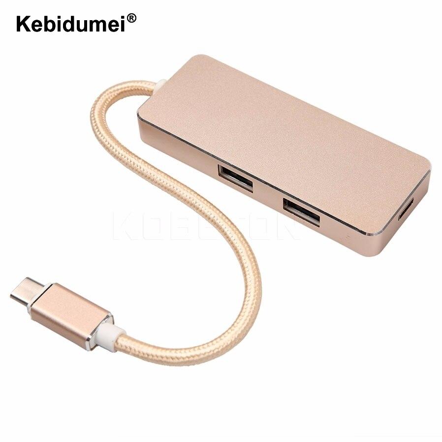 Тип C для USB Hub USB 3.0 Зарядка USB-C Порт Зарядное Устройство Проводки Концентратор Hub для Apple, для Macbook 12 Дюймов