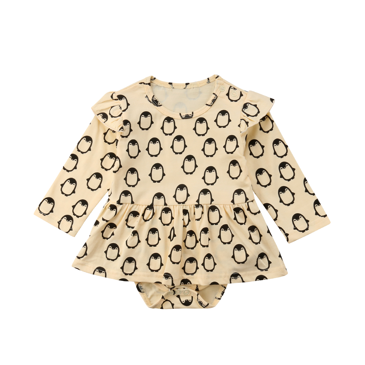 2018 Infant Newborn Baby Girl Cotton Long Sleeve  Romper Jumpsuit Clothes Hot New